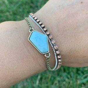 Chloe + Isabel Aquamarina Layered Bracelet